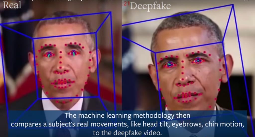 Reconnaissance faciale et lip-sync est une des techniques pour identifier une vidéo deepfake